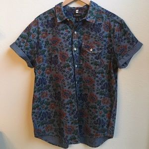 Urban Outfitters men's floral print shirt